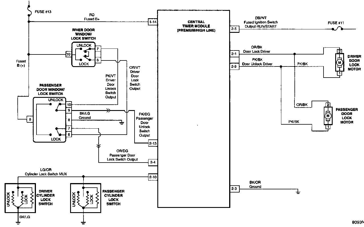Power Window Wiring Diagram For 1999 F250